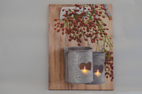 Wholesale tealight design led lighted canvas wall decor, light up oil painting canvas with