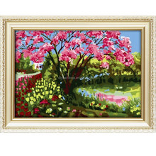 Hot sale landscape pattern diy oil painting by number 40*50cm