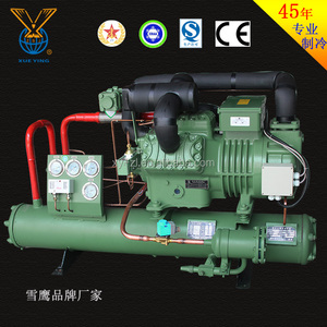 Water Cooled Semi-hermetic Piston Compressor Condensing Unit For Cold Room