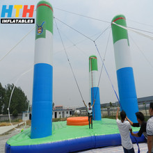 exciting three pillars inflatable bungee equipments for long jump
