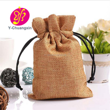 Natural Burlap Jute Drawstring Pouch Gift Bags Wedding Favor Sack