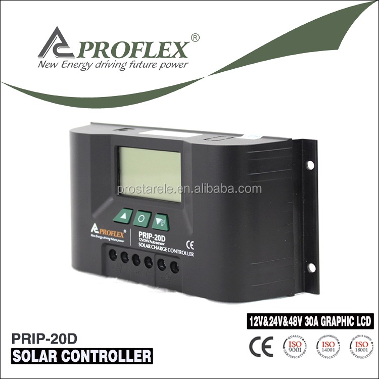 Proflex LCD 12v/24V 30A solar power wind hybrid system charge controller