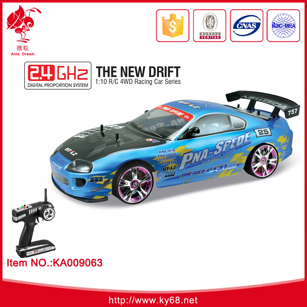 2.4GHZ steering wheel remote control car The New Drift 1:10 R/C 4WD racing car series