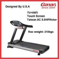 Ganas KY-710 Commerical TV+WIFI Treadmill Body Building Machine Provider