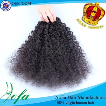 Wholesale human hair extensions,hot sell brazilian remy afro kinky curl weave