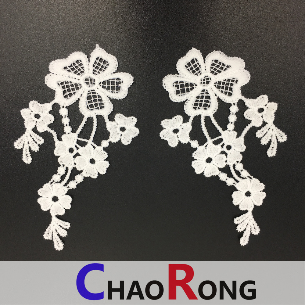 CRN16017 peruvian embroidery lace collar with china market dubai