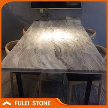 High quality lowes fantasy brown marble granite top office desk price