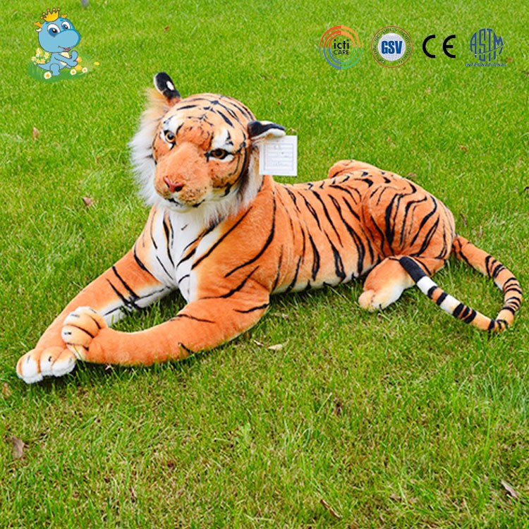 China nanjing OEM factory custom high quality stuffed lifelike tiger plush toys