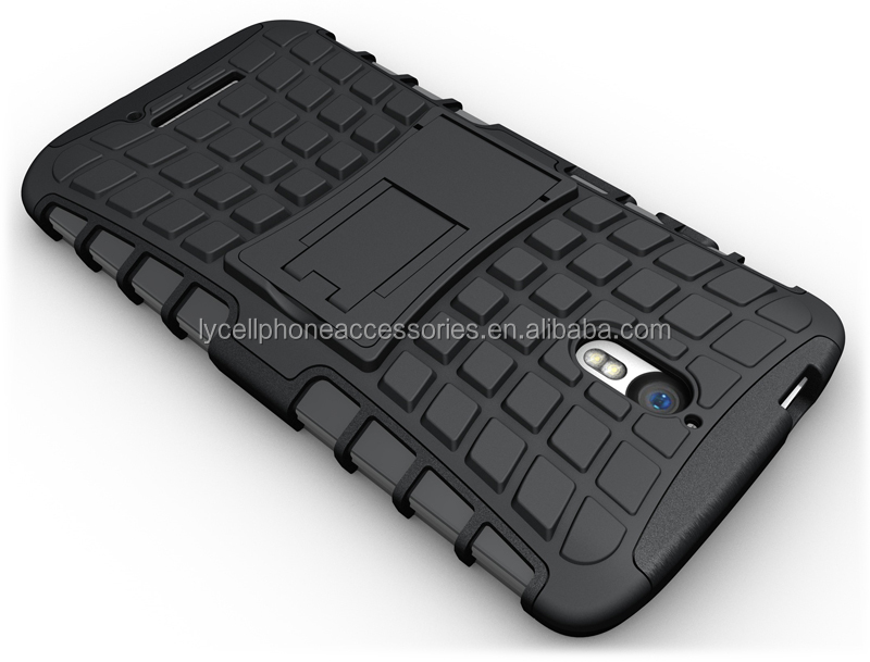 mobile phone kickstand case for motorola x force skin cover