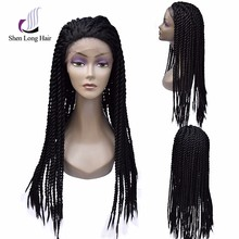 Lace front braided wig different styles braided full lace wig for sale