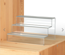 High Clarity, Non-reprocessed Acrylic Multi Step Stairway Display Risers,Two, Three and Four Step Stairway