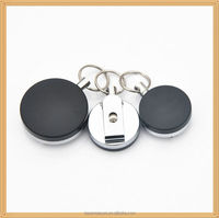 Novelty fashion metal retractable badge reel holder cheap hot business gifts item with Your Logo or Name