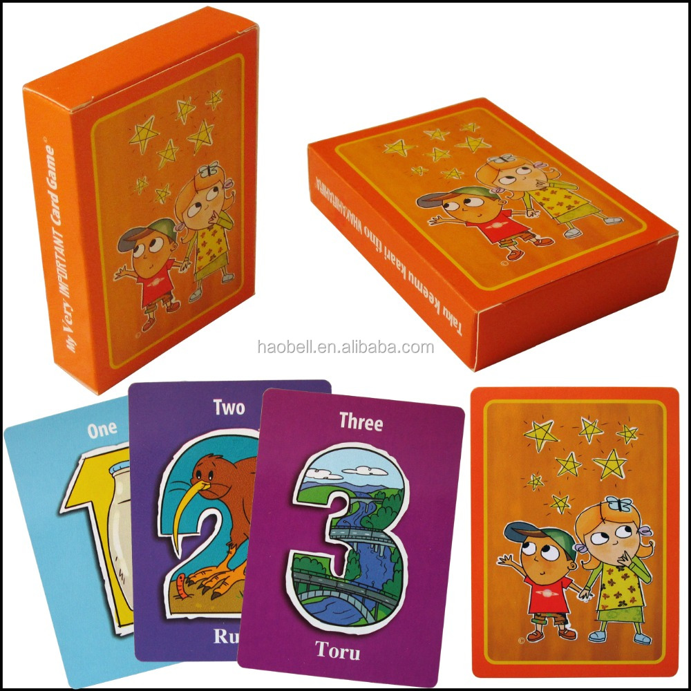 Kids playing card games