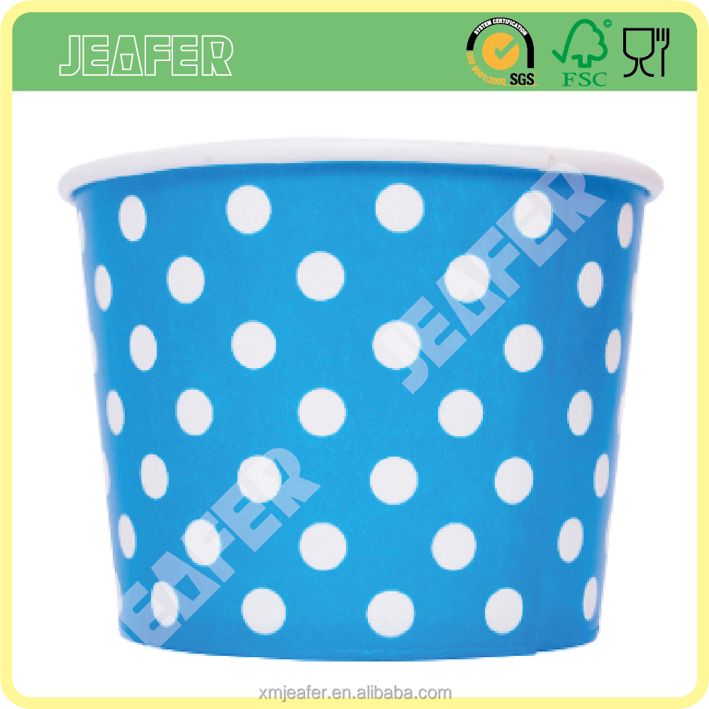 Food Grade Paper Ice Cream Tub with Paper Lid