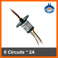 6 circuit 12.5mm Capsule Slip Ring used for electrical equirement