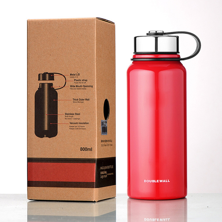 Custom Logo Outdoor Large Capacity <strong>Sports</strong> Stainless Steel Water Bottle