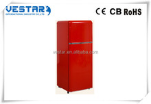 2016 Hot selling double door refrigerator Single door refrigerator red refrigerator