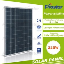 Polycrystalline Silicon Solar Panels high quality pv poly 220w panel solar system for home use