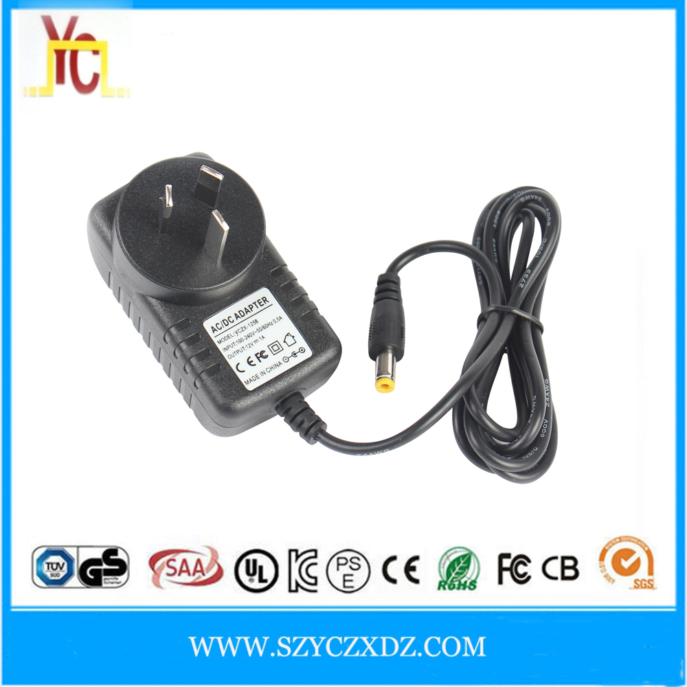 AC/DC 12V 1A 2A 3A wall power adapter supply use for motorized scooter