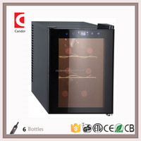 6 Bottles CE/ETL/CETL/RoHS Thermoelectric Mini Portable Wine Cooler/Cellar/Chiller CW-20