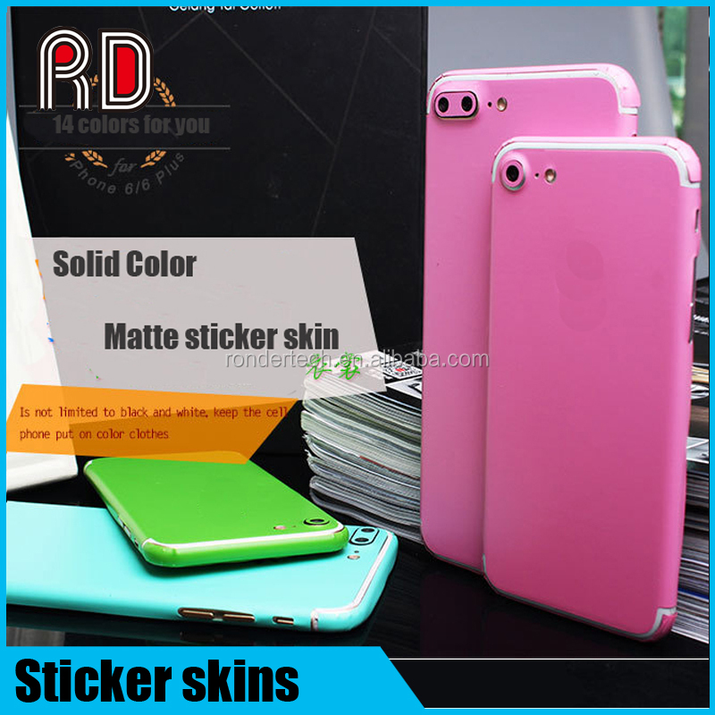 14 colors matte full body decal wrap protective phone case cover sticker skin for ihpoen 7 plus for iphone 7