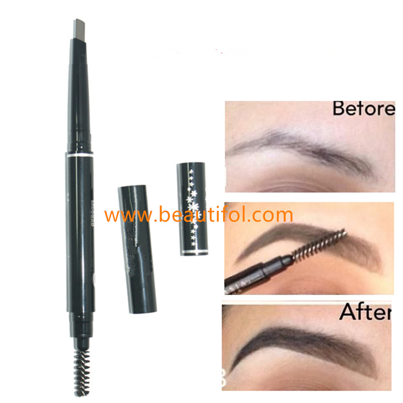 Private label waterproof eyebrow pencil, make up cosmetics eyebrow, best women cosmetics