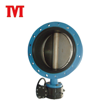 gear operated double bronze flanged actuated handwheel butterfly valve
