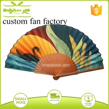 handicraft painting spanish wooden folding fan