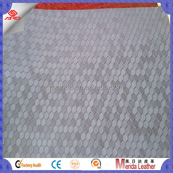Hot sale knitted backing pvc leather material for sofa furniture in China supplier