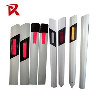 high quality PVC White 3m delineators highway guardrail reflector/reflective delineator