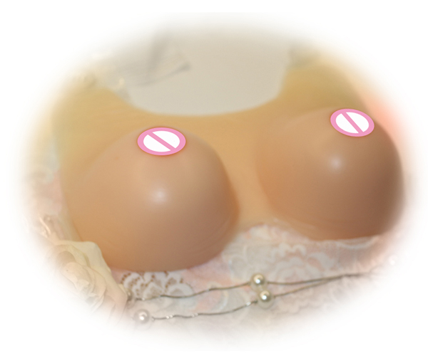 Soft Natural Looking and Touching Silicone Fake Breast Forms Drag Queen Artificial Boobs False for Shemale/Women Enhance