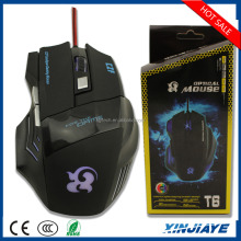 Alibaba express 6 buttons Professional Adjustable 2000 DPI wired Optical Mice USB Gaming mouse gamer with LED For Pro Gamer