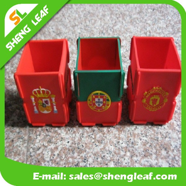 promotional handmade pp DIY pen holder,pen container,plastic custom logo printing pen holder