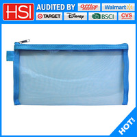 promotional nylon mesh zipper pencil case