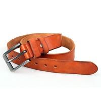 B005B-1 JMD Brown Durable Vegetable Leather Belt for Men's Leather Belt