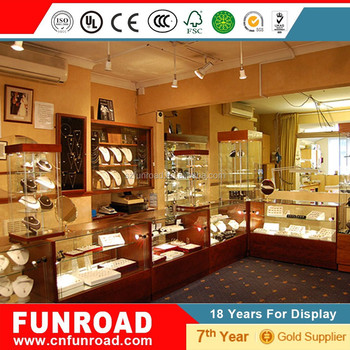 Modern Jewelry Shop Interior Design for Display Counter