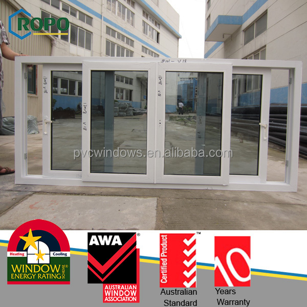 Malaysia project cheap sliding window with pvc profile and single glass