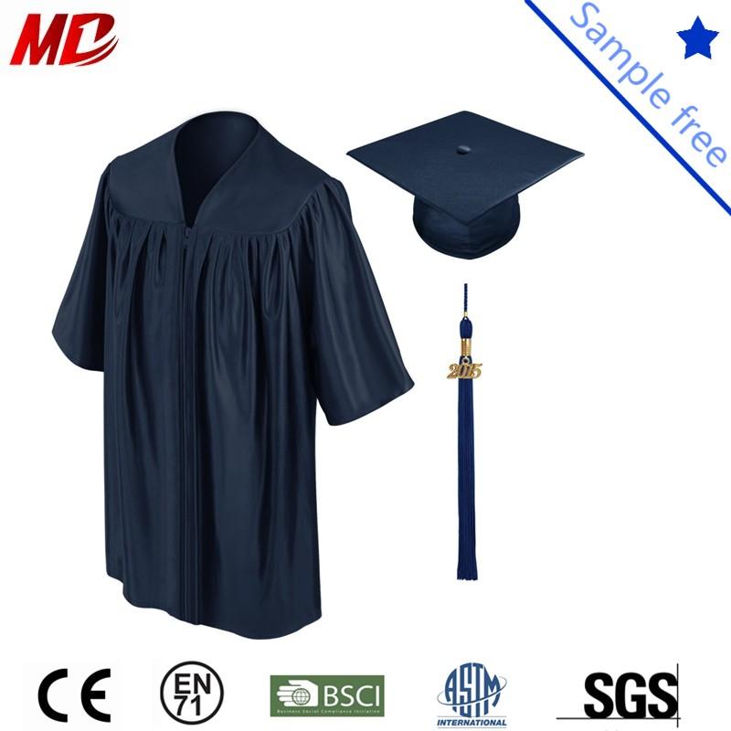 Navy shiny children graduation cap and gown_.jpg