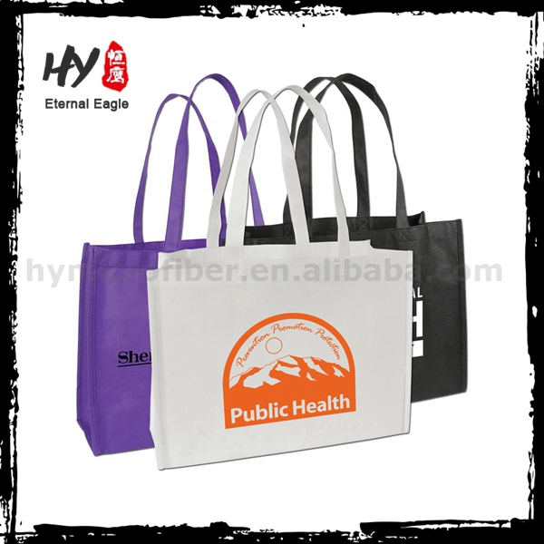 Bulk fabric nonwoven shopper tote bag, wholesale big nonwoven bag, big non woven shopping bag