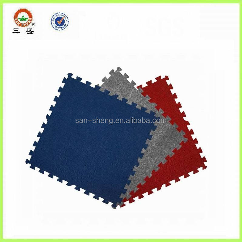 Flooring tile carpet top interlocking mat