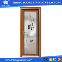 Factory selling directly aluminium bathroom door with glass
