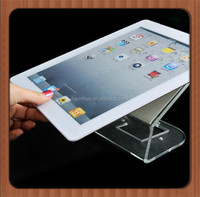 Clear plexiglass sheet for tablet display holder, acrylic display stand for flat computer, lucite laptop display custom