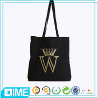 Cheap black cotton bag for shopping organic cotton tote bags wholesale