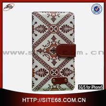 Sublimation Blanks Leather Phone Case for iPhone5,doodle slik faux leather card holder slot with screen protector leather case