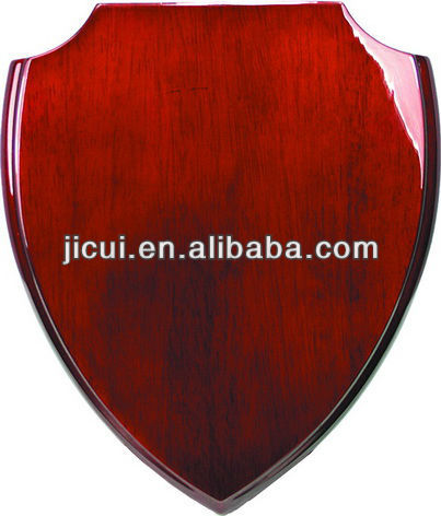 Shield Blank Wooden awards plaque