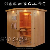 Solid Fir Steam Sauna Traditional Sauna Room for 4-6 Person Therapy Beauty Machine