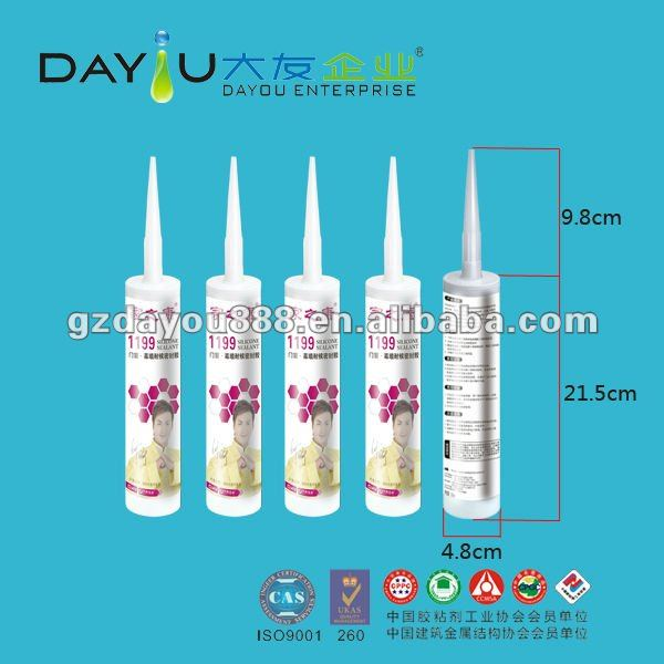 JiaZhiKang1199 windoor&curtain wall weatherproof glass silicone sealant