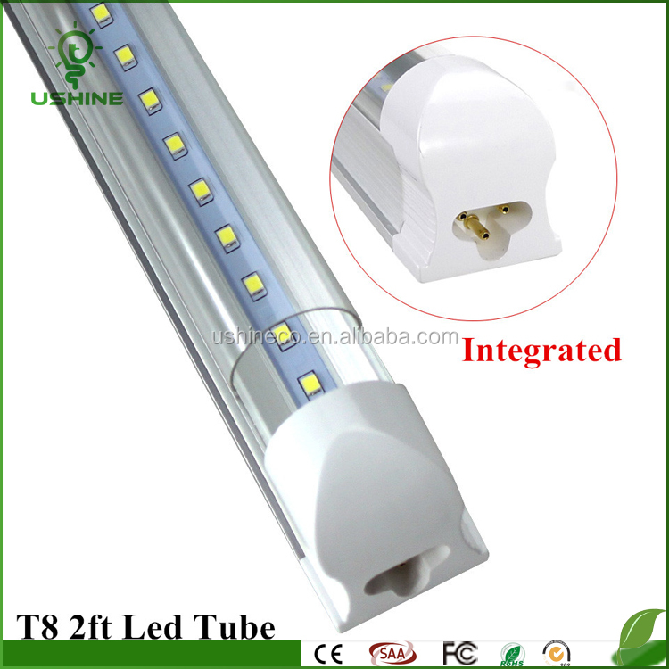 NEW design T8 2ft 10W Integrated Tube Lamp 600mm Led Bulbs Tube AC85-265V