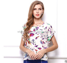 2017 Woman American and European large print t-shirts Blouse Stylish Loose Sweater apparels plus size