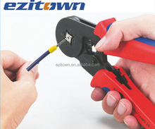 Ezitown HSC8 6-4A wire cable crimping plier Crimping capacity 0.25-6.0mm2 Mini Self adjustable square crimping tools